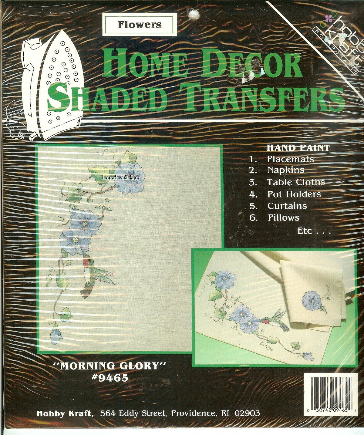Details About Morning Glory Home Decor Shaded Transfers Floral Hobby Kraft Kit 9465 New