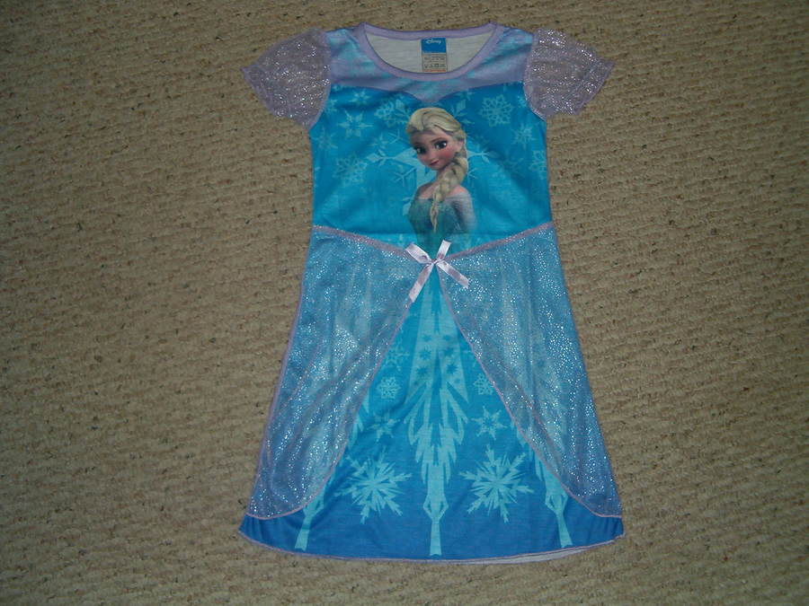 Disney Frozen Elsa Nightgown Pajamas Size S 5/6 - M 7/8 New In ...
