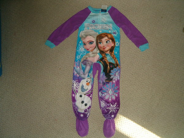 Disney Frozen Elsa Anna Olaf Footed Blanket Sleeper Pajamas Sizes 4/5 Or 10/12