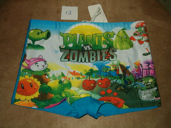 Brand New Boys Plants vs Zombies Swimsuit Shorts Sizes 6 L 8 XL 12 XXL Clothes