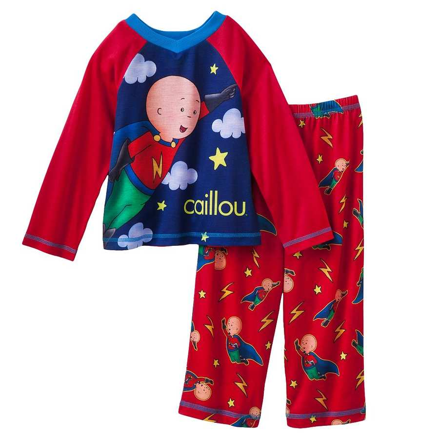 NWT Caillou Superhero 3-pc Pajama Set With Cape Size 2T ...