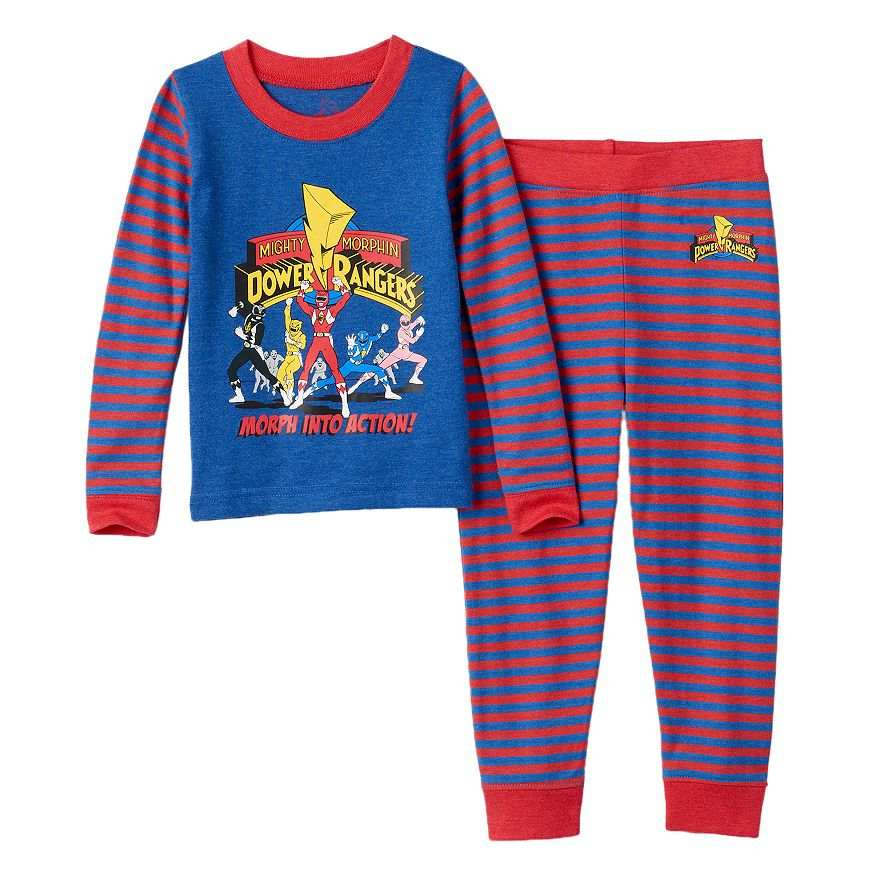 da438684fc Mighty Morphin  Power Rangers Morph Into Action 2-Piece Pajama Set Sizes 6  - 8 - NWT