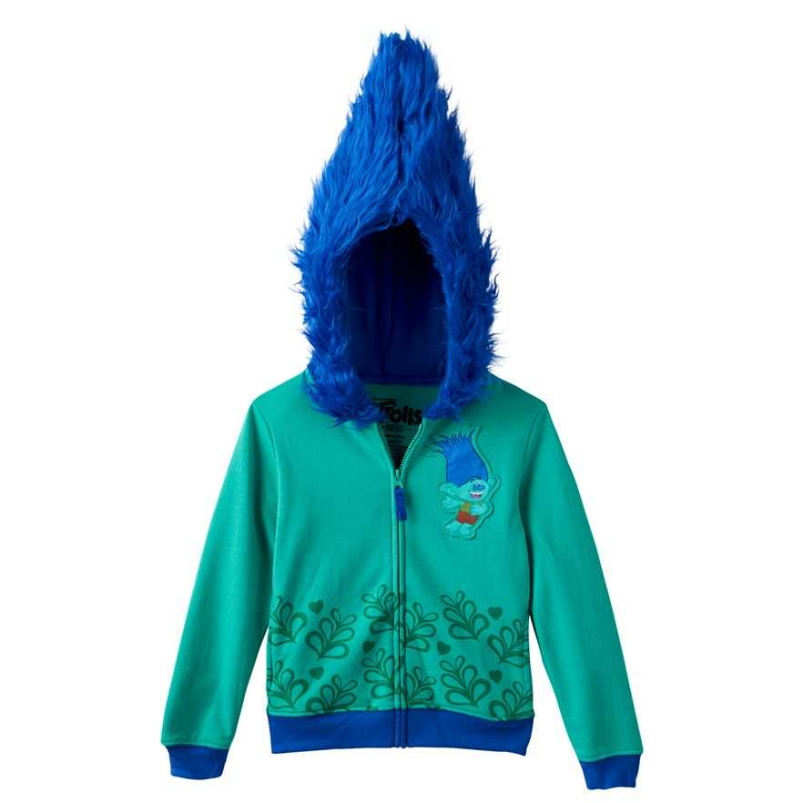 Details about DreamWorks Trolls Branch Applique SpringFall Hoodie Size M 56 $38 Retail NWT