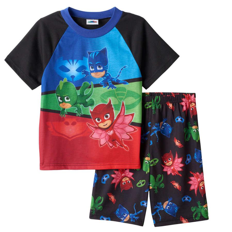 PJ Masks Shortie Pyjamas Childrens Kids PJs Spring Summer Catboy Owlette Gekko
