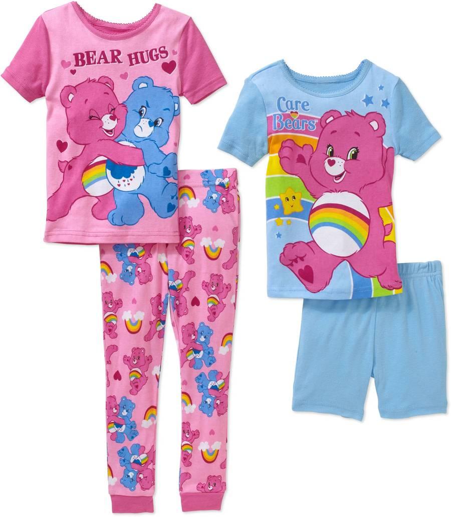 cec3e3d9441b Care Bears Toddler Girls 4-piece Cotton Pajamas Set Size 4T NWT