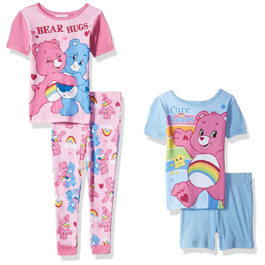 effdf96a Brand New With Tags Care Bears Toddler Girls 4 piece Cotton Pajamas Set  Size 4T