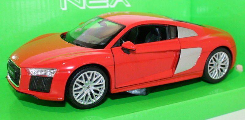 Audi R8 V10 Red Welly 1 24 Classic Model Car Ebay