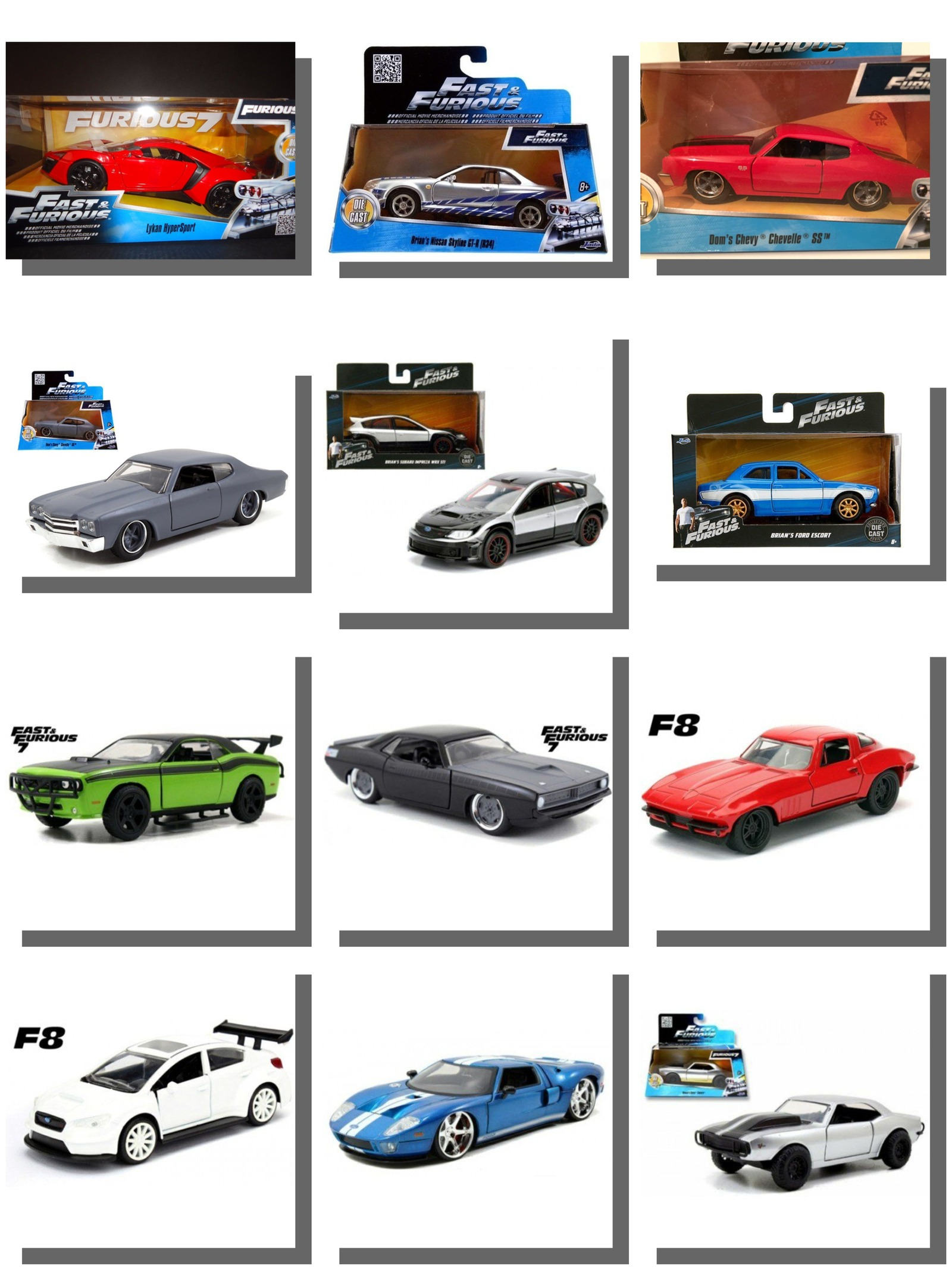 All Fast And Furious Cars >> Details About Fast And Furious Model Cars Diecast Model Car