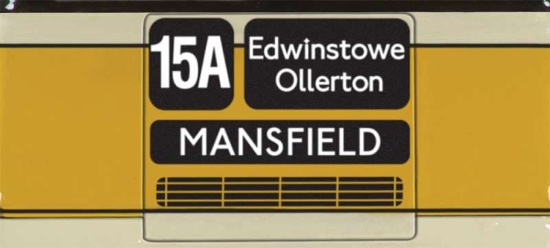 Routemaster-East Midland 15A 1:76 escala OOC Bus Mansfield