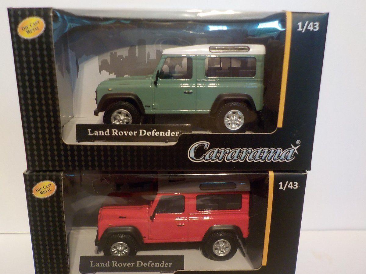 métal modèle Double Set Land Rover Defender X2 CARARAMA échelle 1//43 voiture