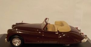 NICE PART-WORK DIECAST 1//43 1954-57 JAGUAR XK140 ROADSTER IN MAROON DARK RED