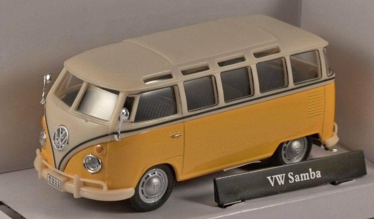 VW t1 SAMBA GIALLO 1:43 Cararama Modello di auto
