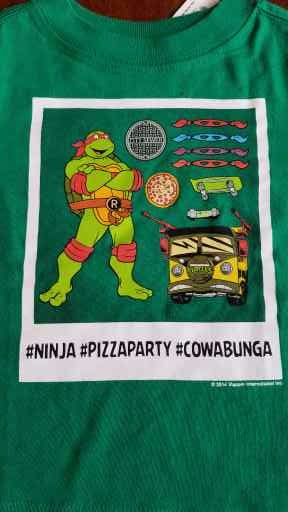 c3c7b0673 Details about New Boys Old Navy Teenage Mutant Ninja Turtles Green Pizza  Party Shirt 12-18 2t
