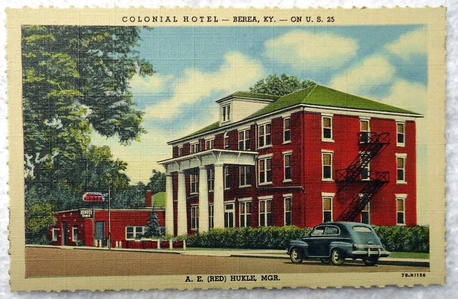Linen Postcard Colonial Hotel Coffee Berea Kentucky 43