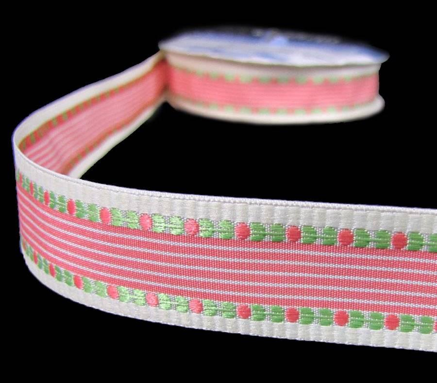 25 Yds Rare HTF Fancy Pants Lilac House Coral Pink Peach Blue Grosgrain Ribbon