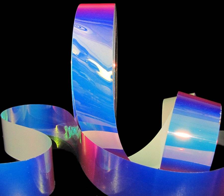 """10 Yards Reflective Color Changing Transparent Waterproof Acetate Ribbon 1 1//4/""""W"""
