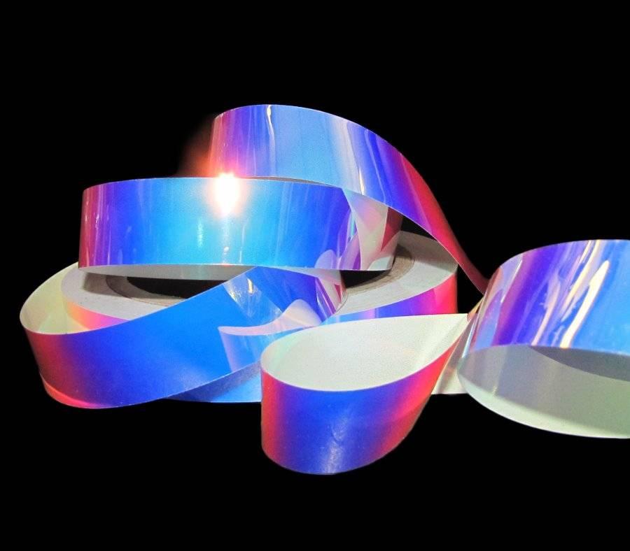 10 Yards Reflective Color Changing Crystal Splendorette Waterproof Acetate Ribbo