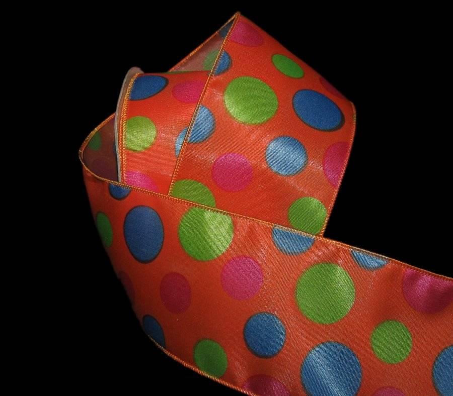 Blue Orange 2-3 met. 1//2 inch Ribbon Greens Pinks
