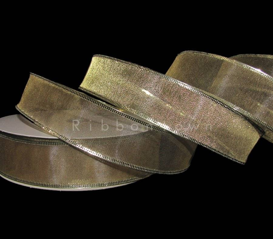 """5 Yds Solid Metallic Gold Wired Ribbon 2 1//2/""""W"""