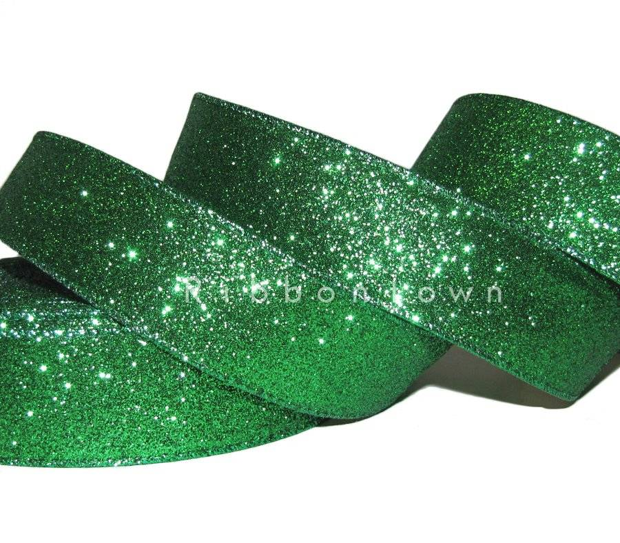 """GREEN WIRE EDGED RIBBON 1-1//2/"""" x 5 Yards Christmas"""