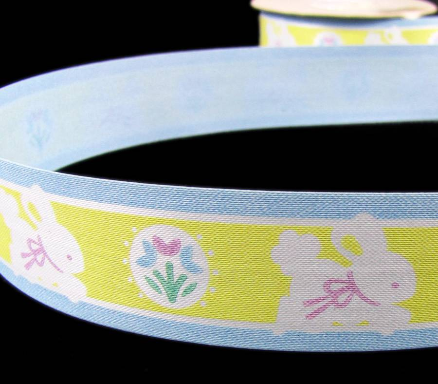 """5 Yards Colorful Easter Eggs Yellow Gift Waterproof Acetate Ribbon 1 1//2/""""W"""