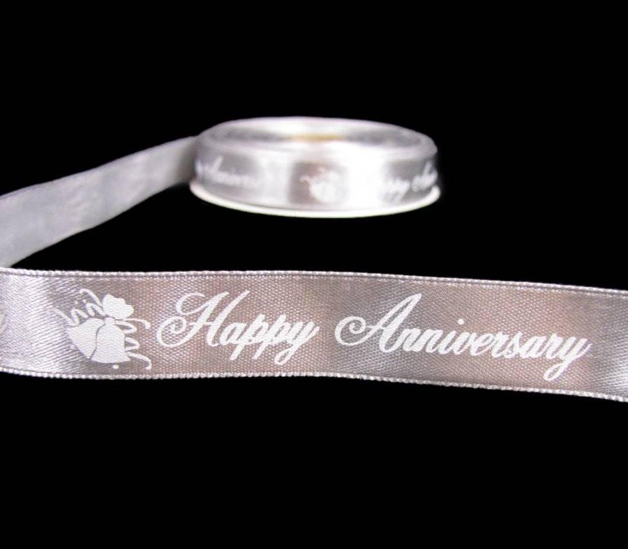 "5 Yds Bridal Shower White Silver Favors Scrapbook Wedding Satin Ribbon 3//8/""W"