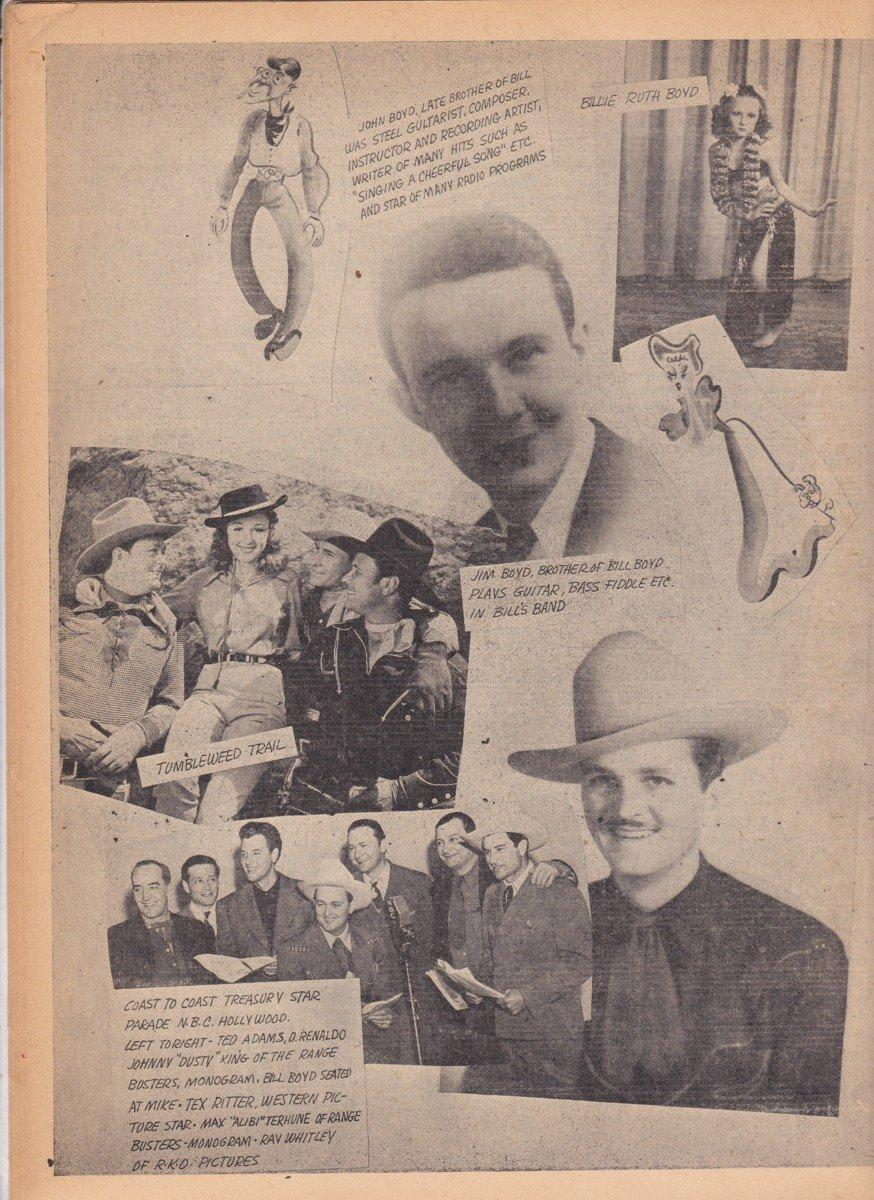 Details about 1944 BILL BOYD DELUXE SONGBOOK Cowboy Movie Star 86 Songs,  Photos RARE, OOP!