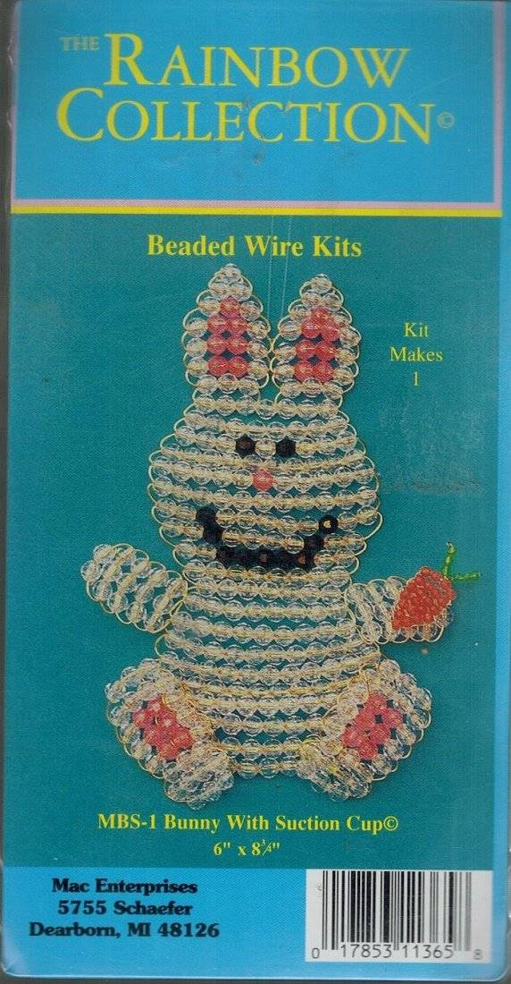 "Pink Dress Rabbit Bubble Bead KIT Spring Girl Bunny Easter Ornament 8/"" Tall NEW"