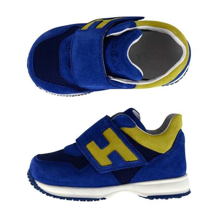 Details about NEW HOGAN JUNIOR Kids BOYS BLUE SUEDE TRAINERS / SHOES SZ 25 UK 8 US 9 RRP $270