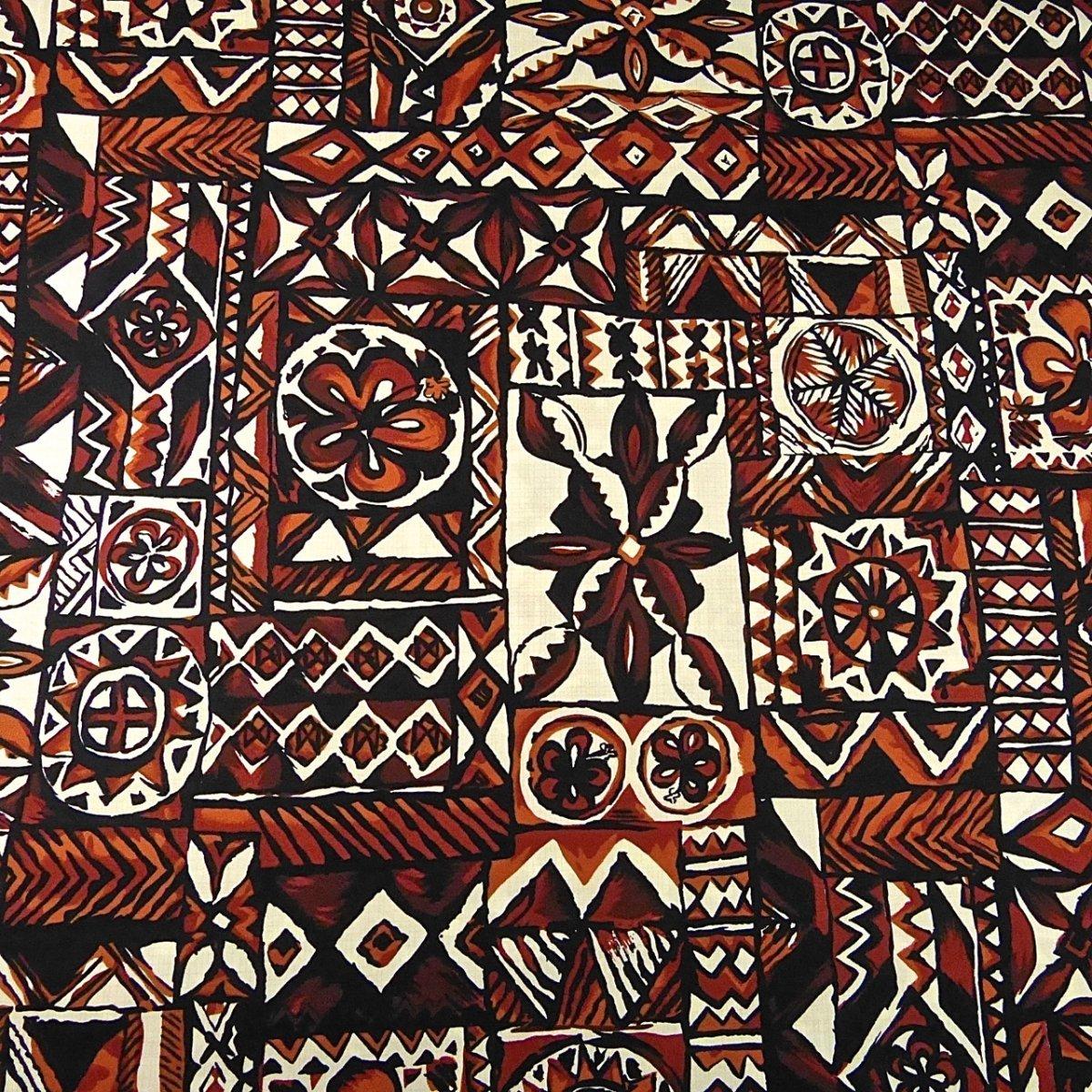 Traditional Hawaiian Tapa Tribal Print, Brown Black ...