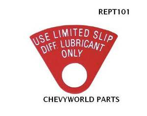 68 72 camaro 12 bolt rearend posi tag 69 70 71 ebay new original fan shape posi traction tag for 12 bolt rearends 68 72 made in the usa sciox Gallery
