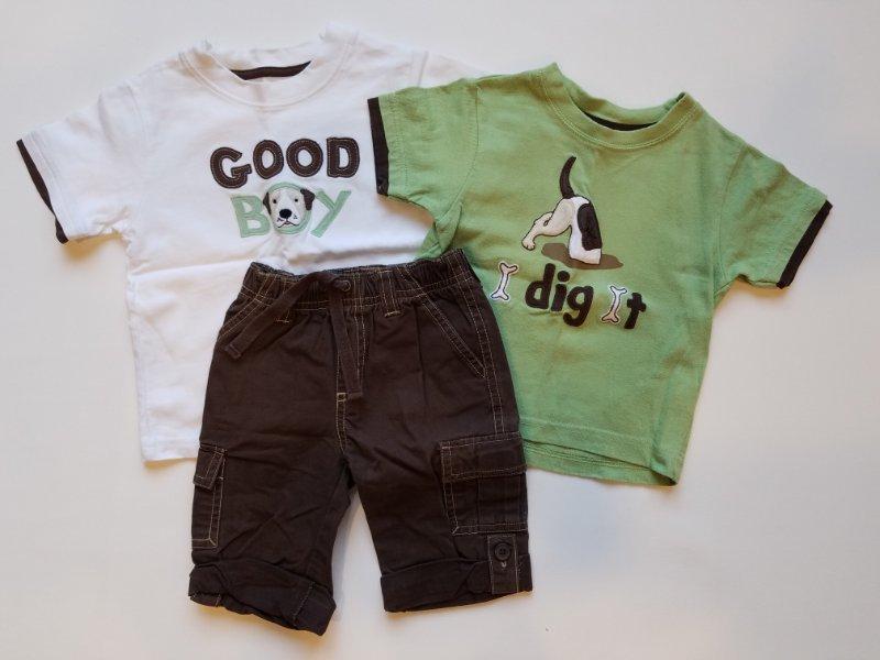 NWT Gymboree Infant Boys Brown Gingerbread Dog Top Long Sleeve Shirt 6-12 Mos