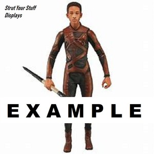 """3  #20SMB BLACK Kaiser Stands NEW 7/""""-8/"""" tall ACTION FIGURES Slim NECA,PLAYARTS"""