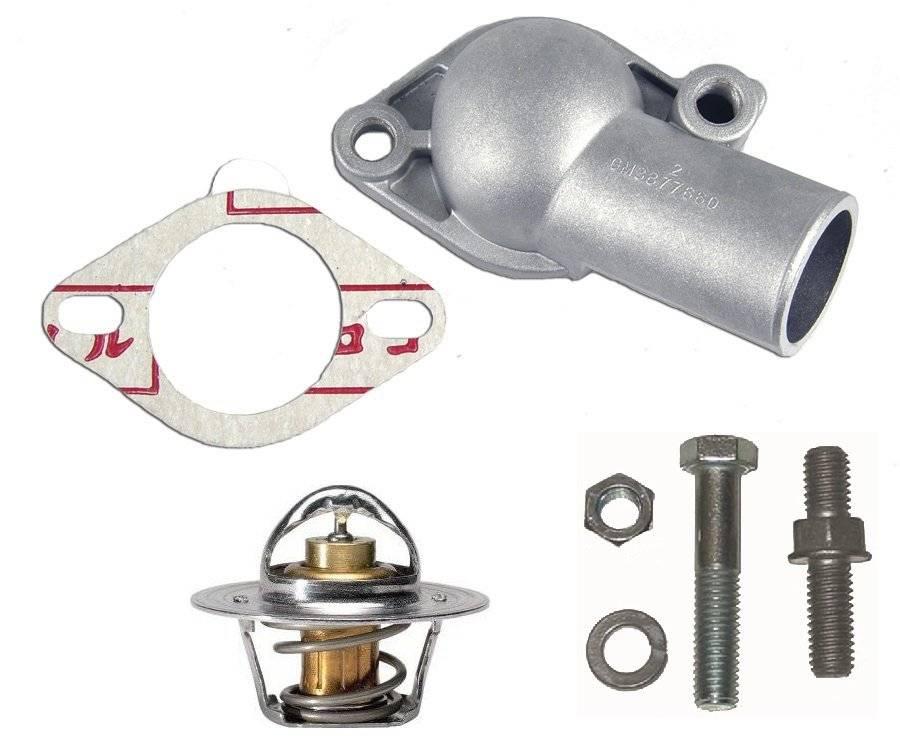Chevelle Small Block Aluminum Thermostat Housing Kit 160 degree 1967-72 Camaro