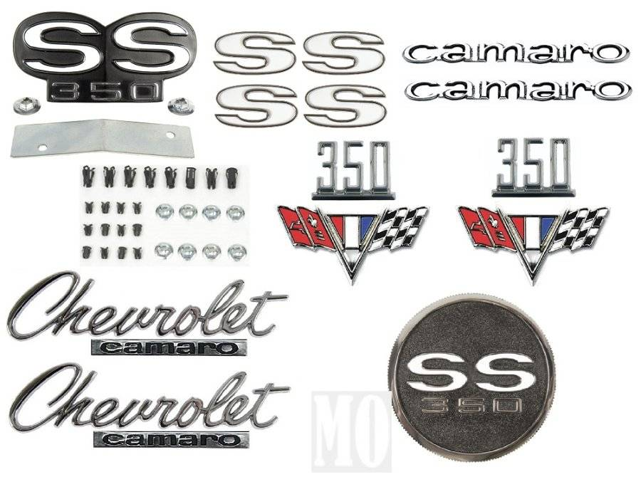 1967 Camaro 396 Super Sport Emblem Kit SS 67