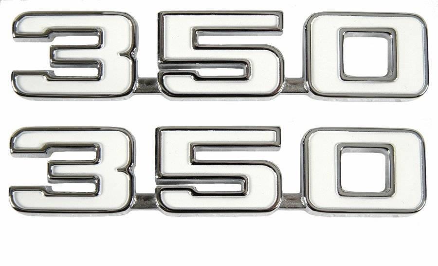 GM Licensed Reproduction 1968 Camaro 350 Front Fender Emblems