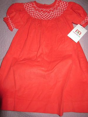 Hand Smocked Seed Pearl Pink Dress 12m 18m 2T 3T New!!!