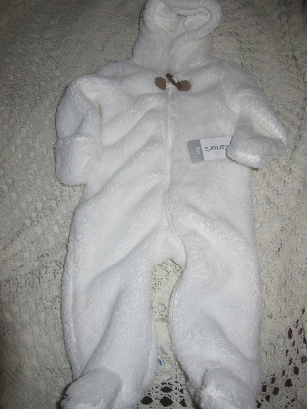 NWT Carter's Baby Boy's Snow Suit Grey Multi Color Size 6-9 Months NWT