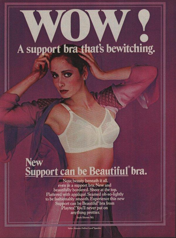 1980 Playtex Bras Vintage Magazine Ad Page Sexy Woman in Bra Open Blouse    eBay