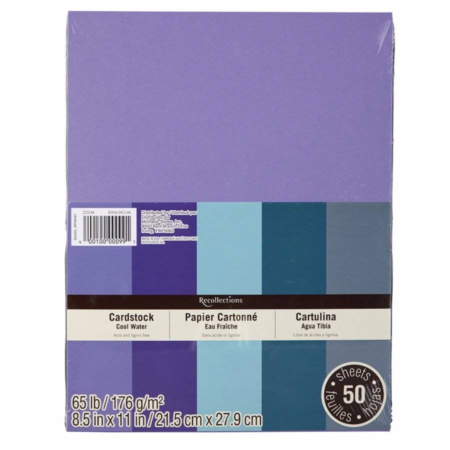 """New Recollections 8.5x11/"""" Cardstock Paper Black 50 Sheets"""