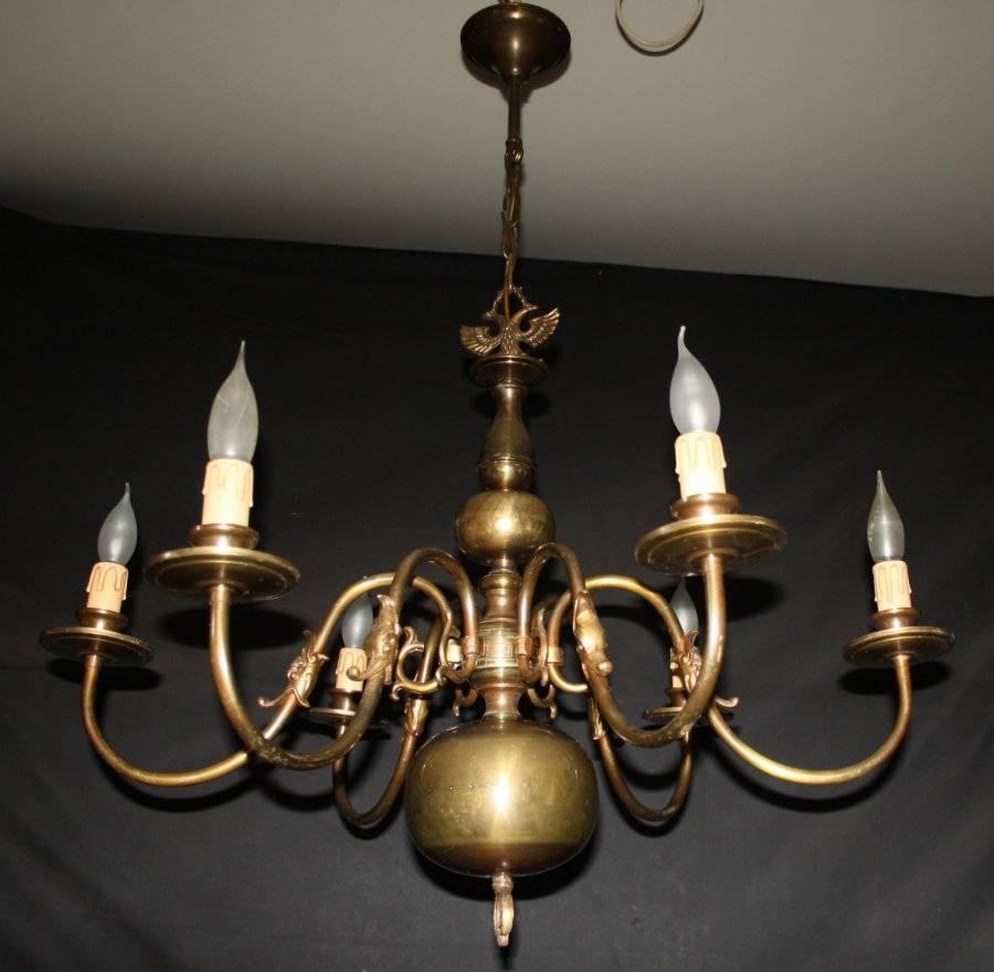 A Vintage 6 Arm Flemish Chandelier Gothic Ceiling Light Ref Ajl12