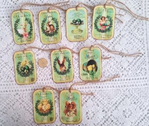 Eastervintagebunnyhand cutlinen cardstockgifthangtags ebay offered today is a brand new set of 9 vintage easter bunny instrument gift tags precision hand cut into bunny rabbit die cut paper shapes negle Choice Image