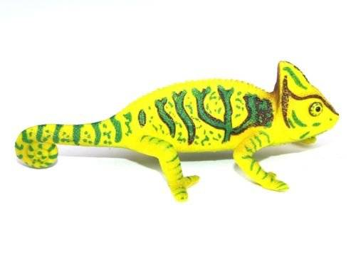 """NEW Beautifully Detailed Very Realistic 4/"""" Chameleon PVC Plastic Figure"""