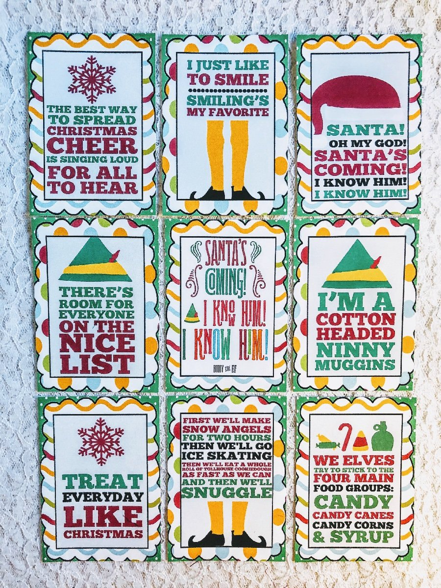 Set Of 9 Cards Christmas Buddy The Elf Sayings Pocket Pen Pal Cards Only 206n Ebay