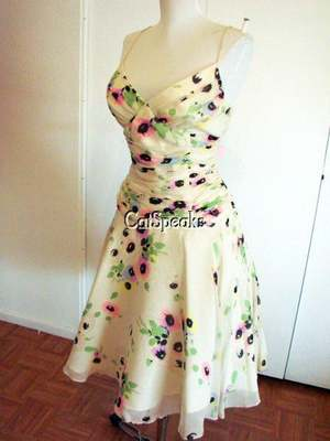 Nwt betsey johnson vintage crinkle silk floral dress8 sale ebay guaranteed authentic betsey johnson dress in size 8 made from a beautiful crinkle silk in cream and covered in pink blueyellow and purple flowers mightylinksfo