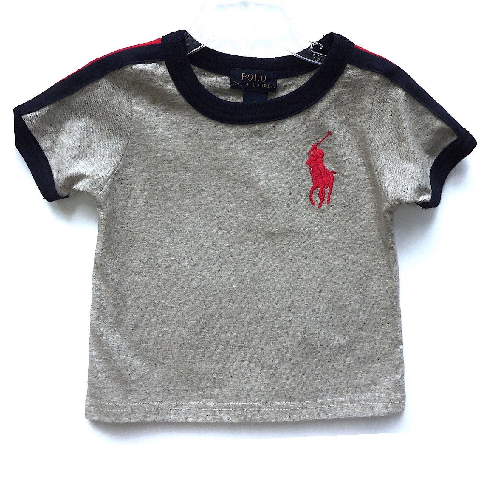 BOYS RALPH LAUREN T SHIRT  AGE 9 MONTHS SHORT SLEEVE LIGHT BLUE