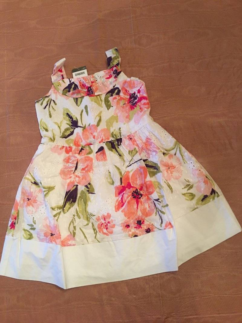 NWT Gymboree Girl Family Brunch Apricot Blossom Floral Eyelet Dress 2T 3T 4T 5T