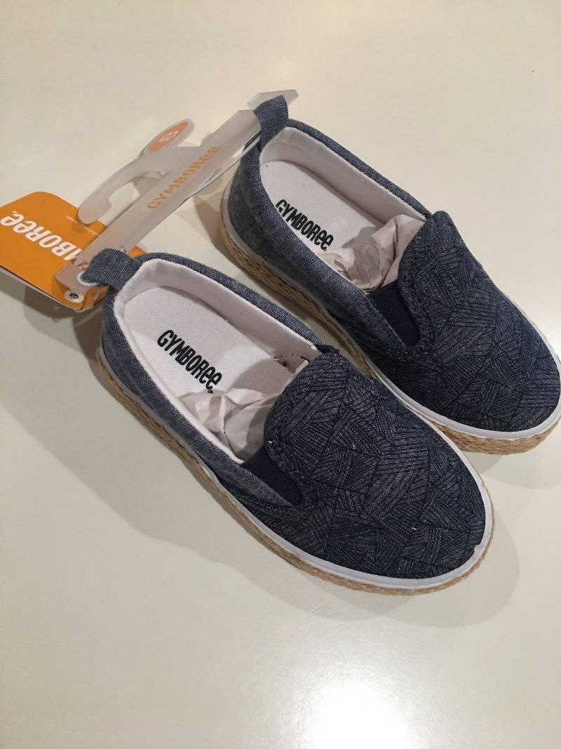 NWT Gymboree Boy Sneakers Shoes Slip on Chambray Toddler and kid sizes
