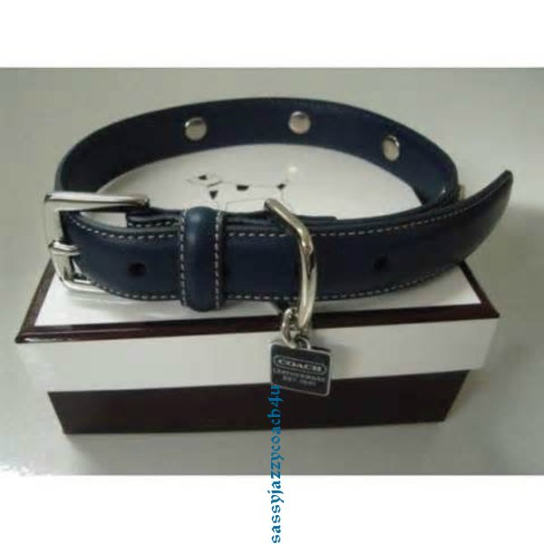 59549a9e Details about NEW COACH SMOOTH BLACK LEATHER DOG COLLAR GROMMETS CHARM  LARGE L OTHER SIZES!