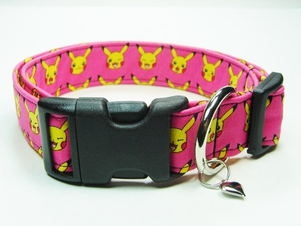 Charming Pink with Yellow Pokemon Dog Collar | eBay - photo#23